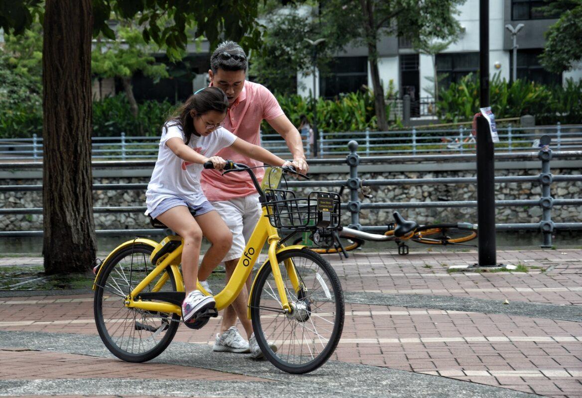 père fête des pères vélo enfant